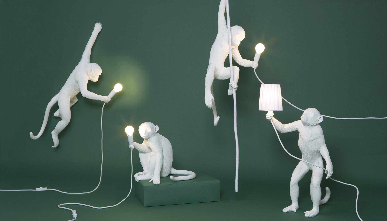 la lampara de resina Monkey