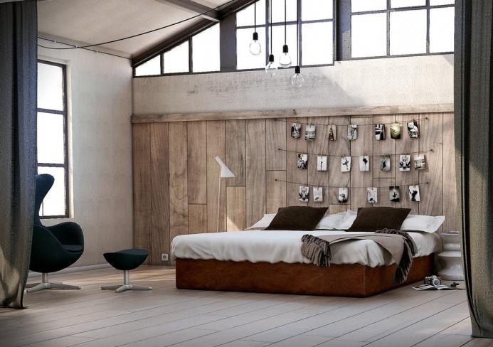 Butaca Egg en dormitorio