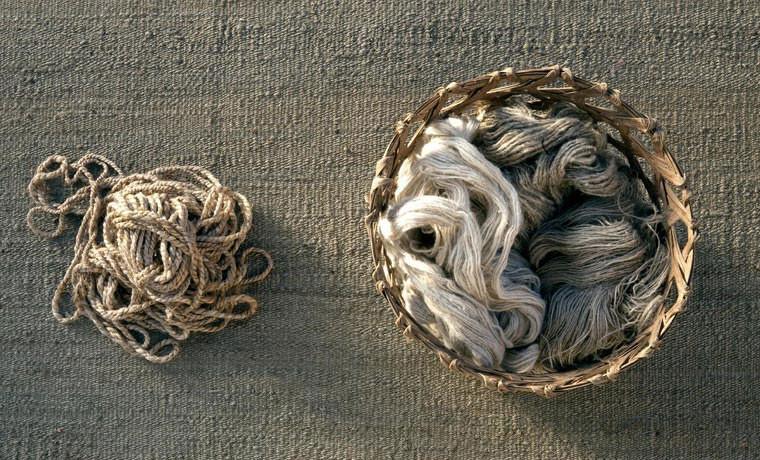 Detalle alfombra natural vegetal Nanni Marquina
