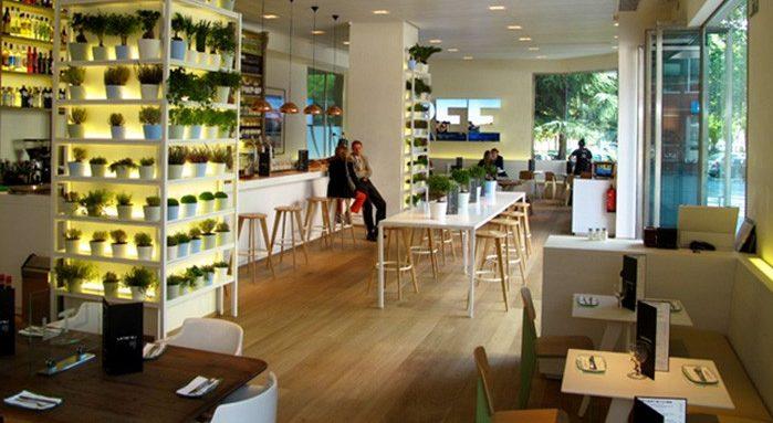 Proyecto Restaurante Lateral Castellana 42 amueblado con mobiliario contract