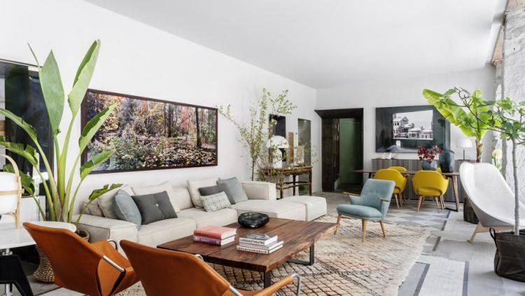 Rincón Batavia con sofá de diseño Neowall 2 plazas de Living Divani