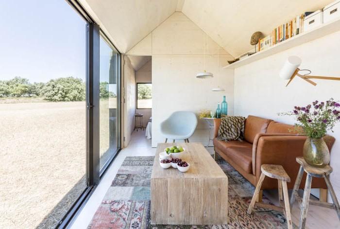 Detalle salón proyecto casa transportable