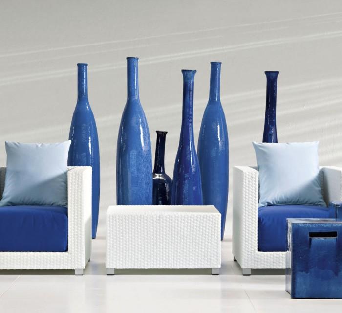 Jarrones de diseño InOut en tonos azules