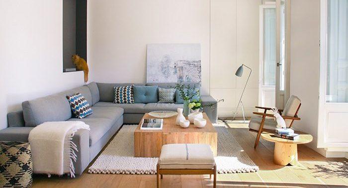 Detalle del proyecto Ayala de Batavia con sofá de diseño