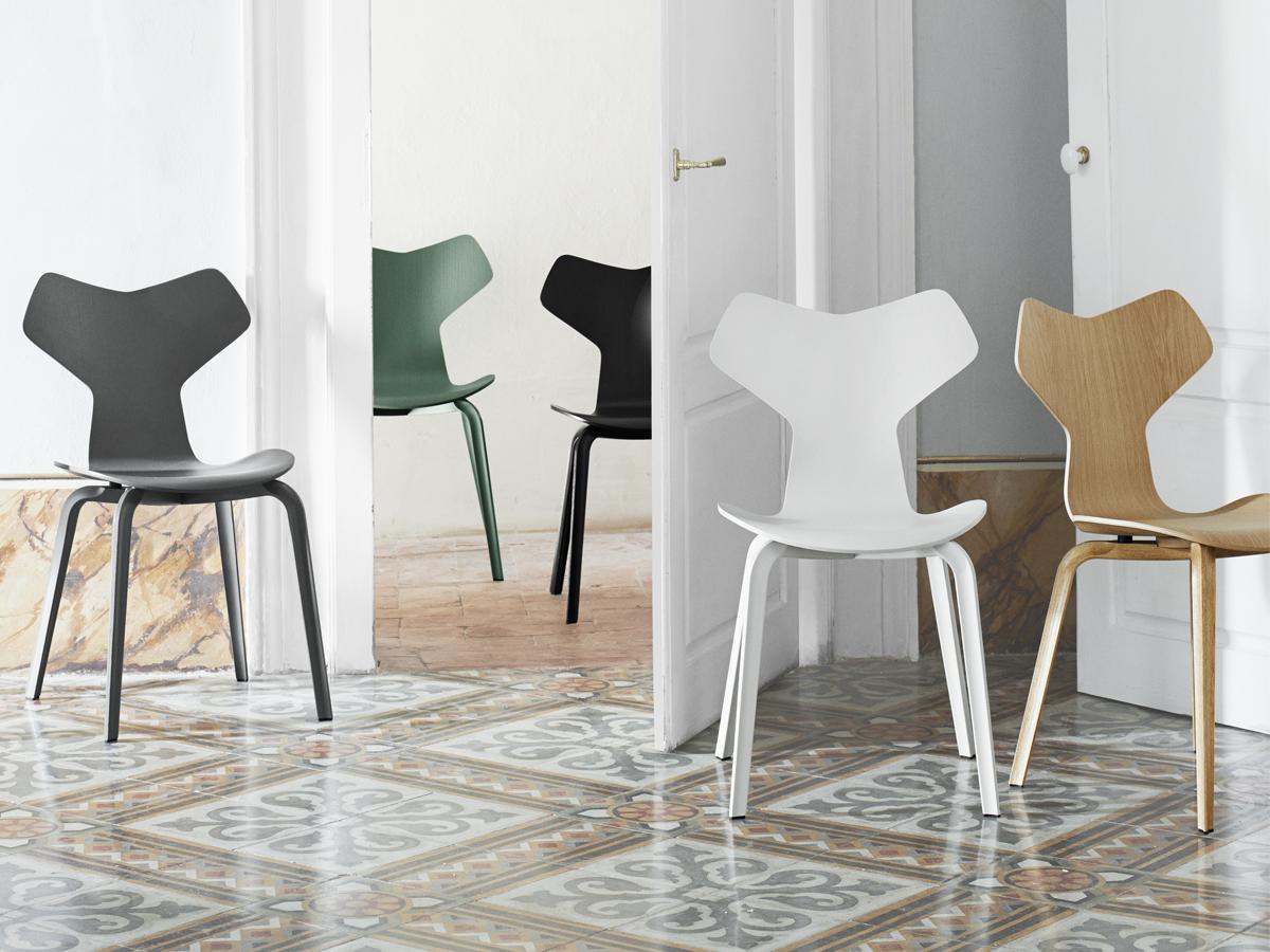 Silla Gran Prix diseñada por Arne Jacobsen
