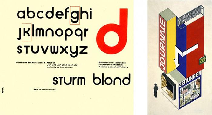 tipografía diseñada por la bauhaus