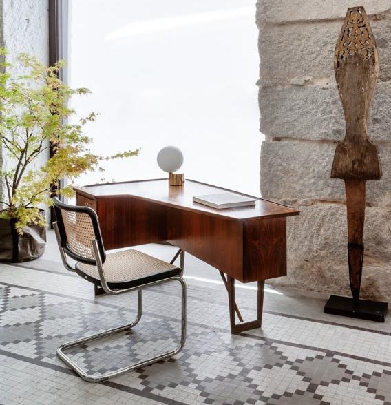 escritorio danés madera de palisandro Peter Lovig