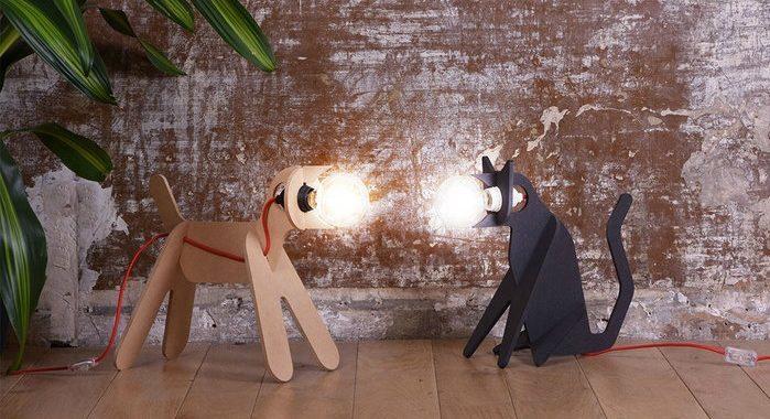 lampara perro y lampara gato