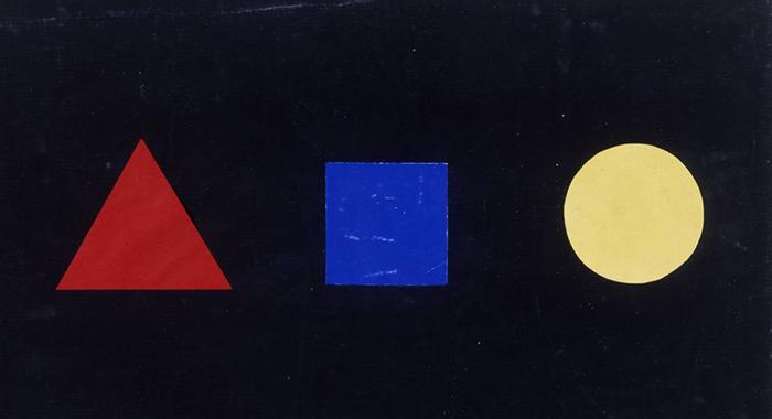 formas geométricas y colores primarios de la bauhaus