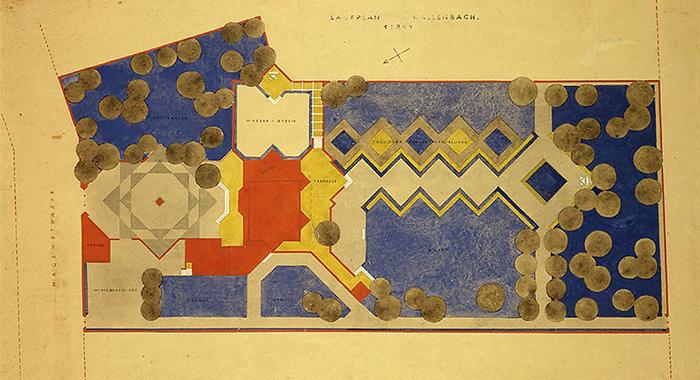 plano de walter gropius arquitecto de la bauhaus