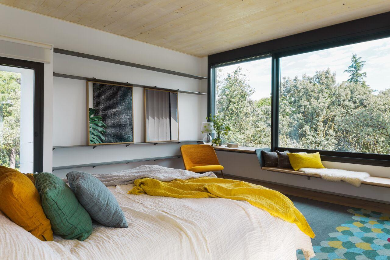 detalle del dormitorio de casa ch proyecto interiorismo batavia
