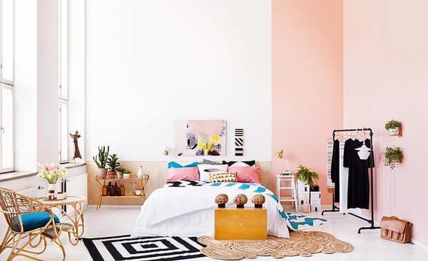 dormitorio decorado estilo boho