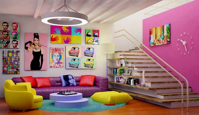 salon estilo pop art
