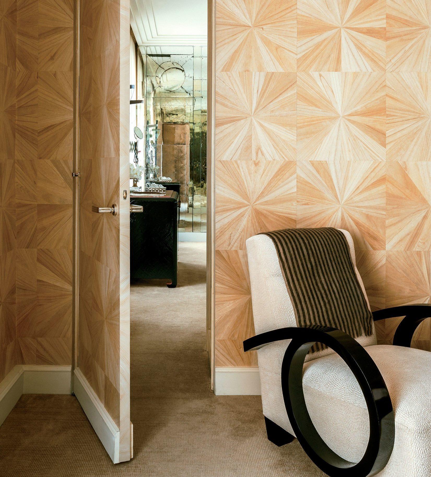 Decoracion Art Decó papel geometrico en paredes