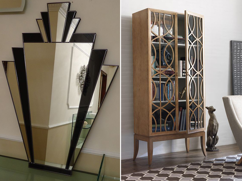 espejos y muebles ornamentados art decó
