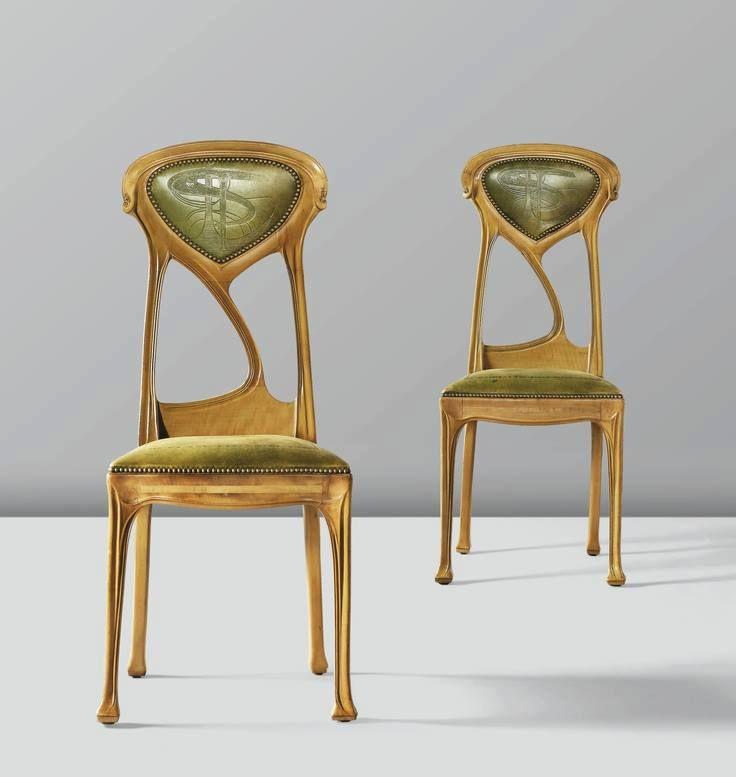 sillas estilo art nouveau