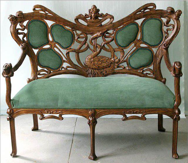 sofa estilo art nouveau