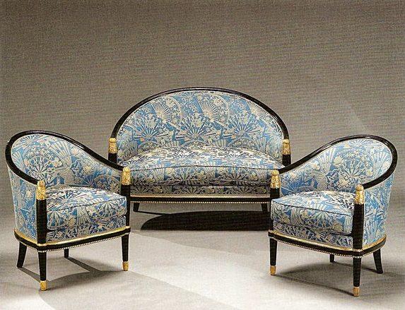 sofas estilo art deco