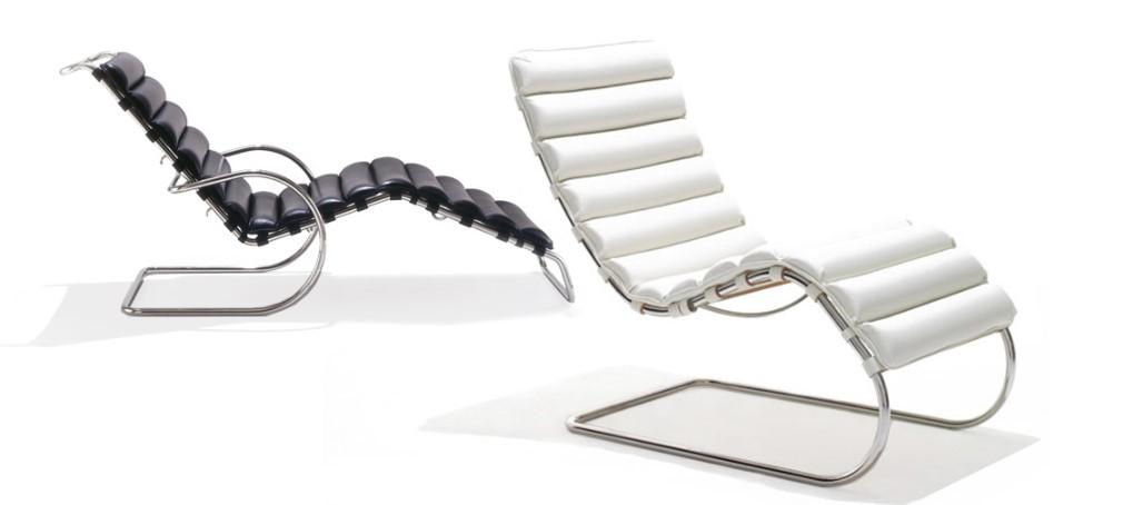 chaise lounge diseñada por mies van de rohe