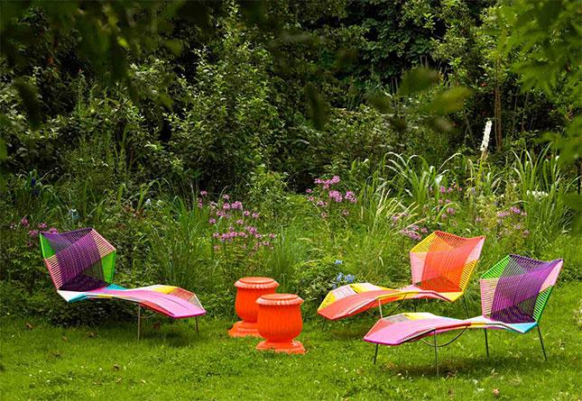 chaiselounge Tropicalia diseñada por Patricia Urquiola