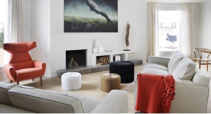 plaid sofa como accesorio de decoración en proyecto de decoracion