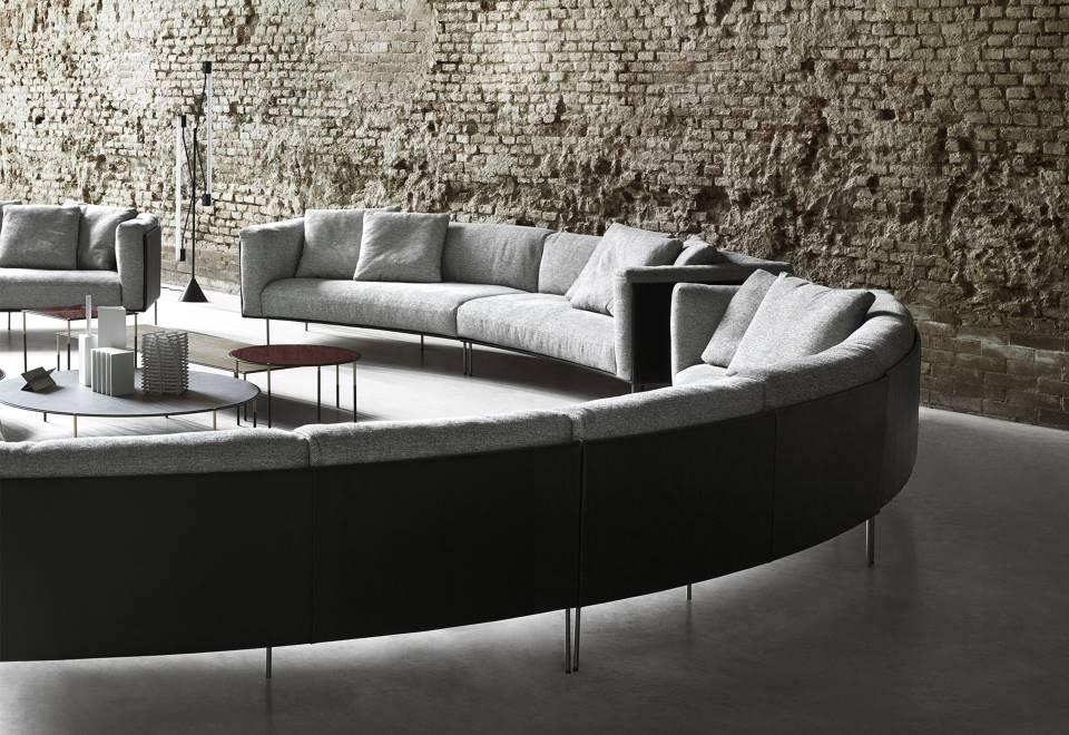 sofa curvo rod bean de living divani