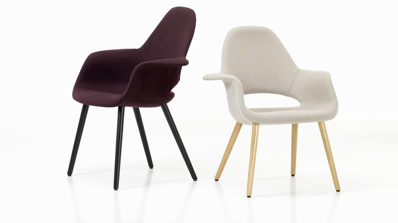 organic chair diseñada por eero saarinen y charles eames