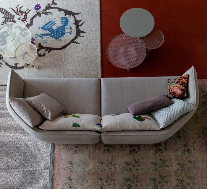 sofa chamfer curvo patricia urquiola moroso