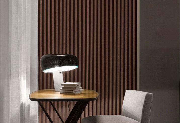 lampara snoopy diseñada por los hermanos castiglioni para flos